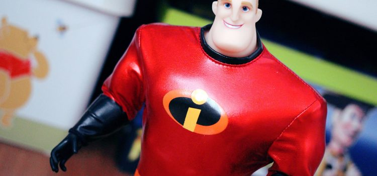 "Jakks Pacific ""Incredibles 2"" Mr. Incredible & Jack-Jack Dolls"