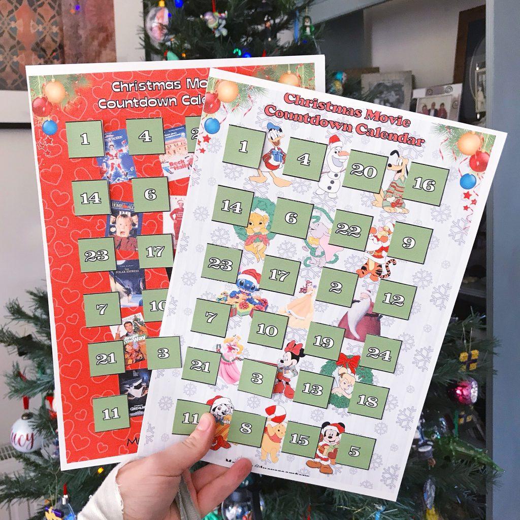 Free Printable! – Christmas Movie Countdown Calendars!