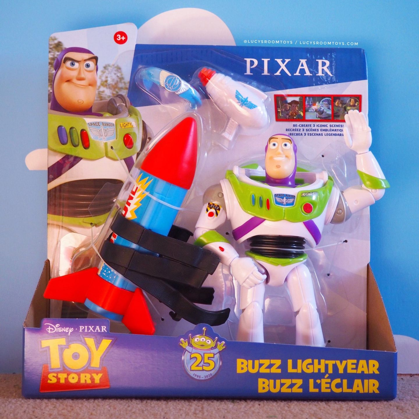 Mattel Toy Story 25th Anniversary Buzz Lightyear Figure & Accessory Set