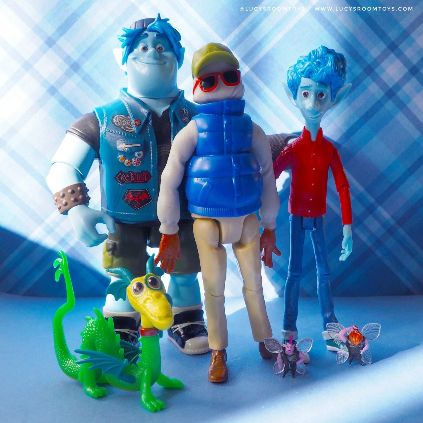 "Mattel ""Onward"" Figures – Ian, Barley & Wilden"