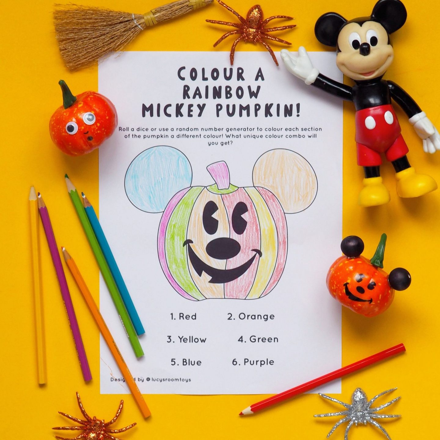 Saturday Scribbles! – Rainbow Mickey Pumpkin