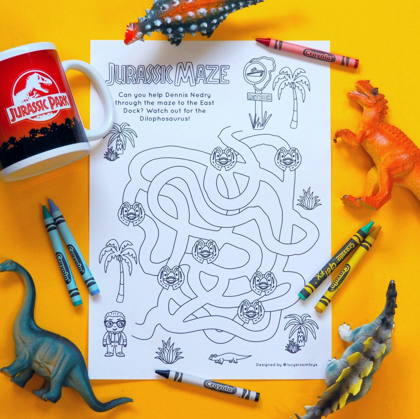 Saturday Scribbles – Jurassic Maze!