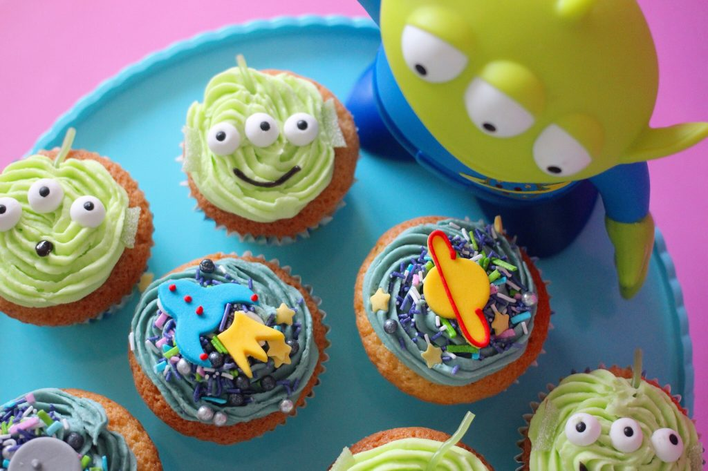Toy Story Alien & Space Themed Cupcakes