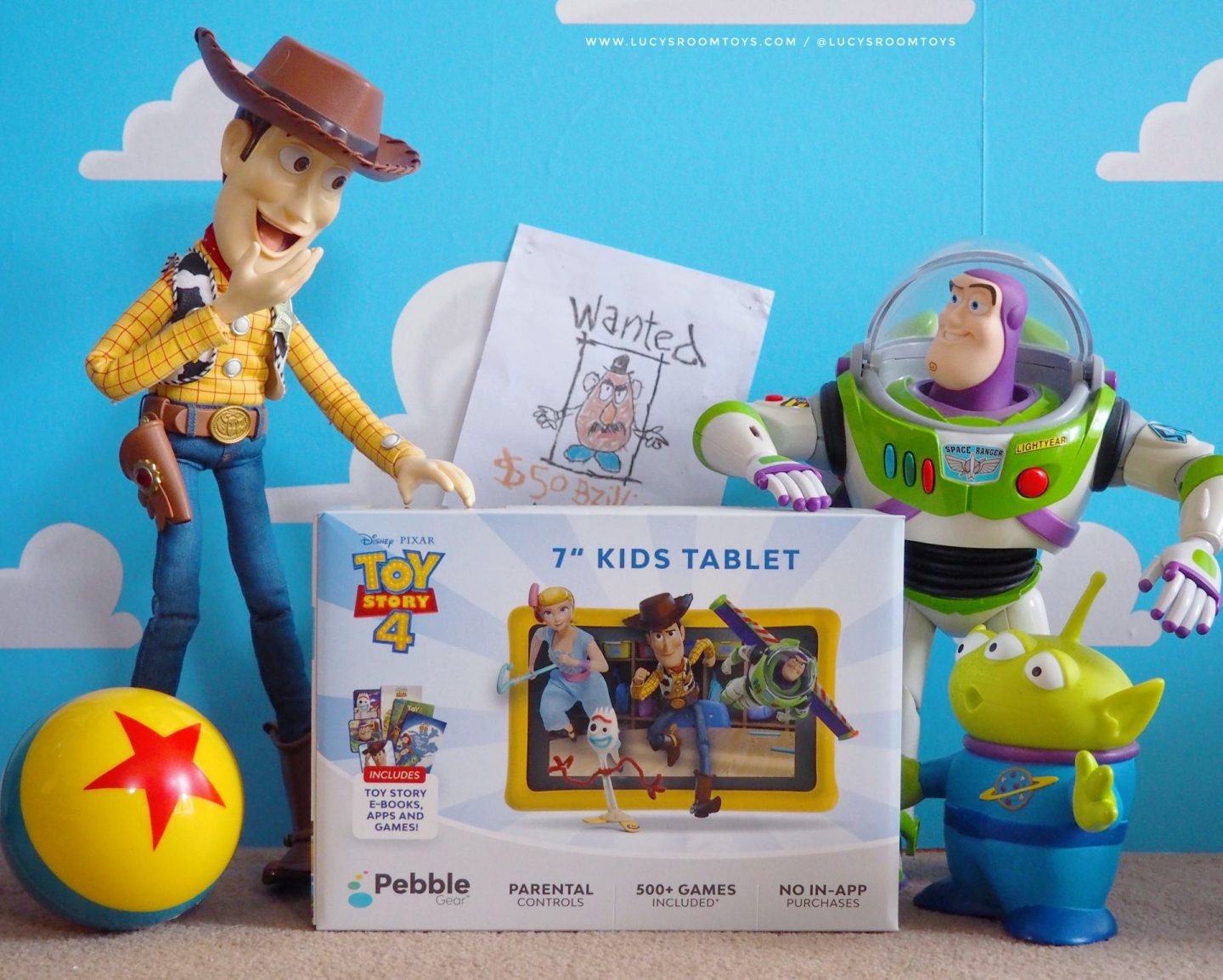 """*Ad/PR Sample* Pebble Gear Toy Story 4 Themed 7"""" Kids Tablet"""