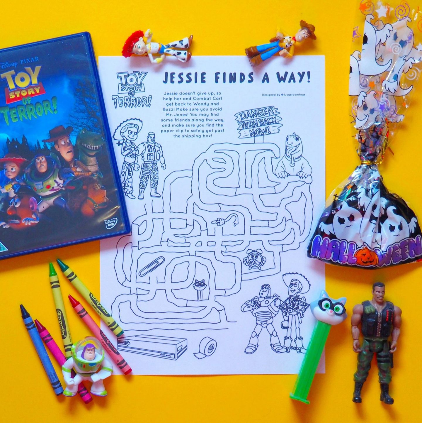 Saturday Scribbles – Toy Story of Terror!