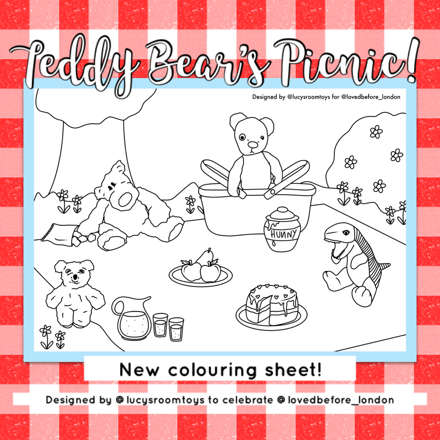 Colouring Page – Teddy Bear's Picnic